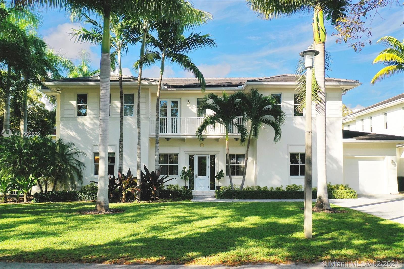 Introducing this newly built elegant, 2 story home located in highly sought after S. Coral Gables, i