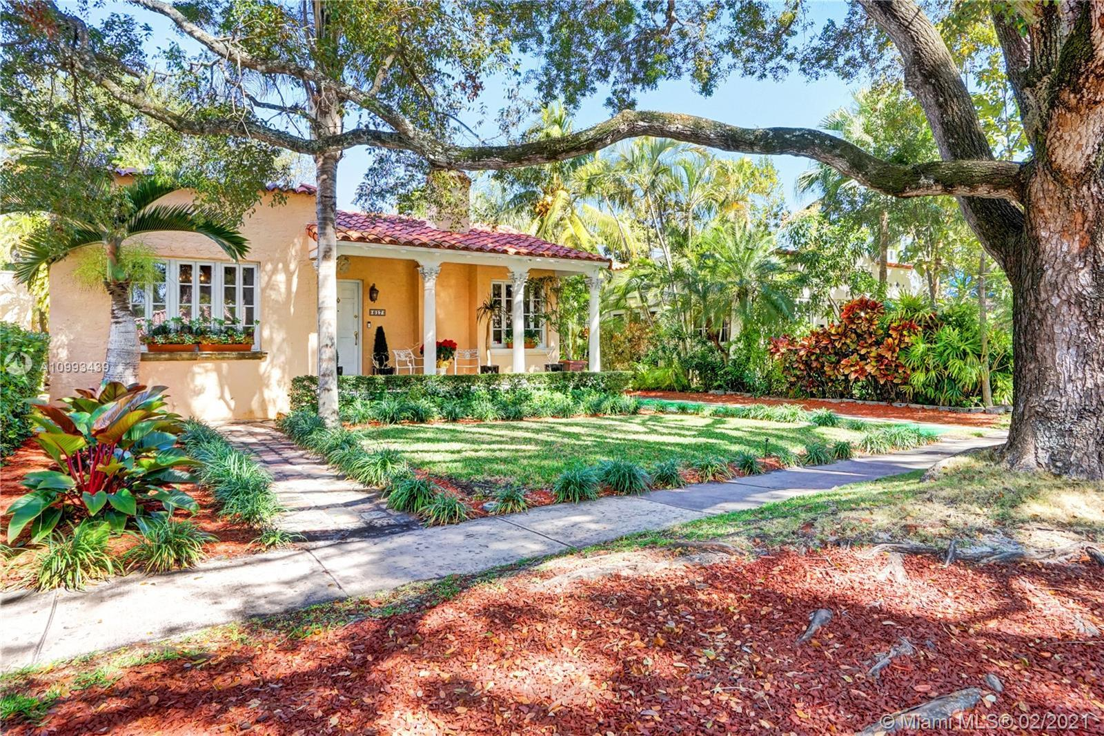 Impressive home located in the highly desirable North Gables neighborhood. French doors and an abund