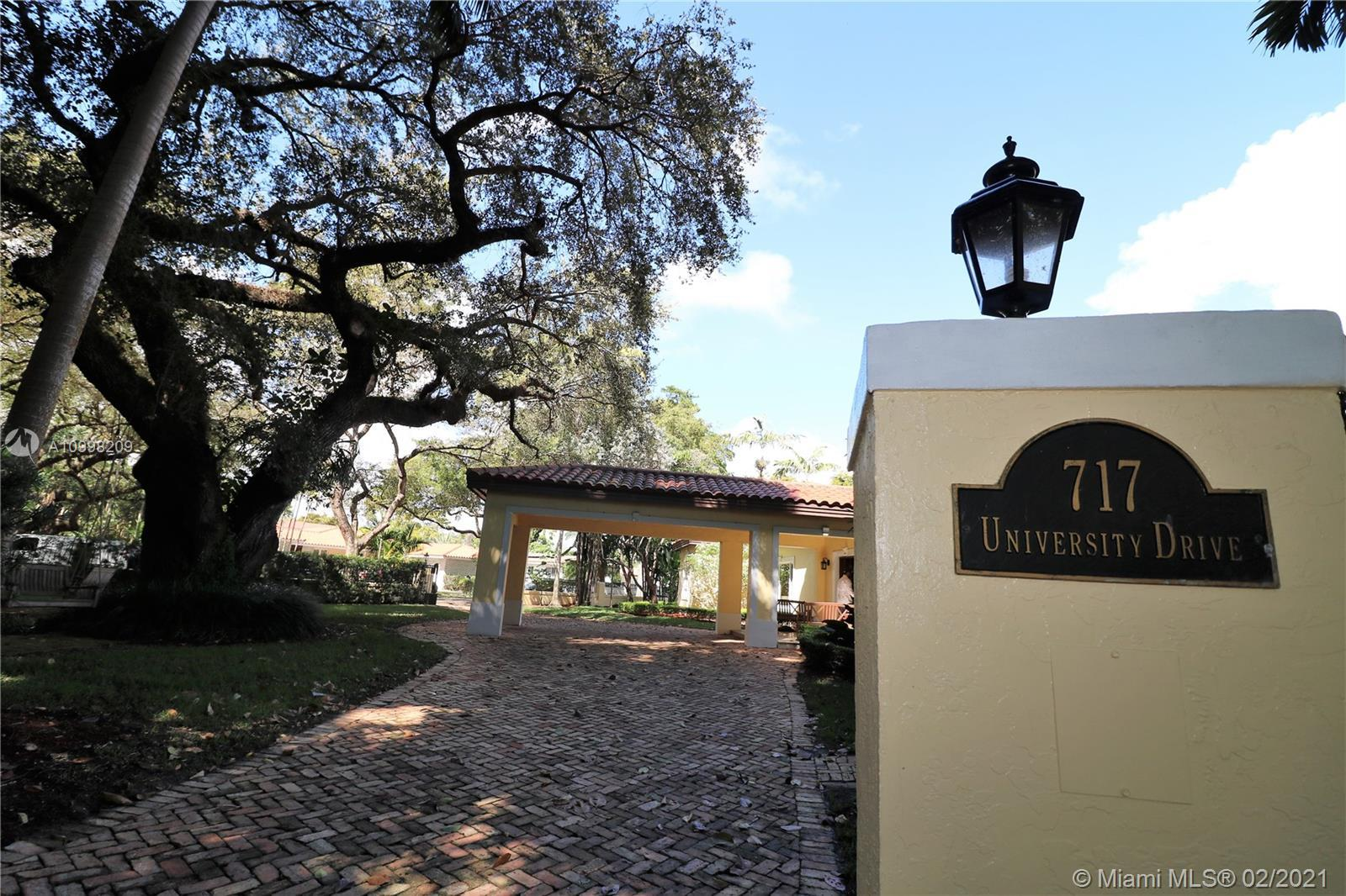 Immaculate 4 bedroom, 5.5 bath residence in the Golden Triangle section of Coral Gables known for it