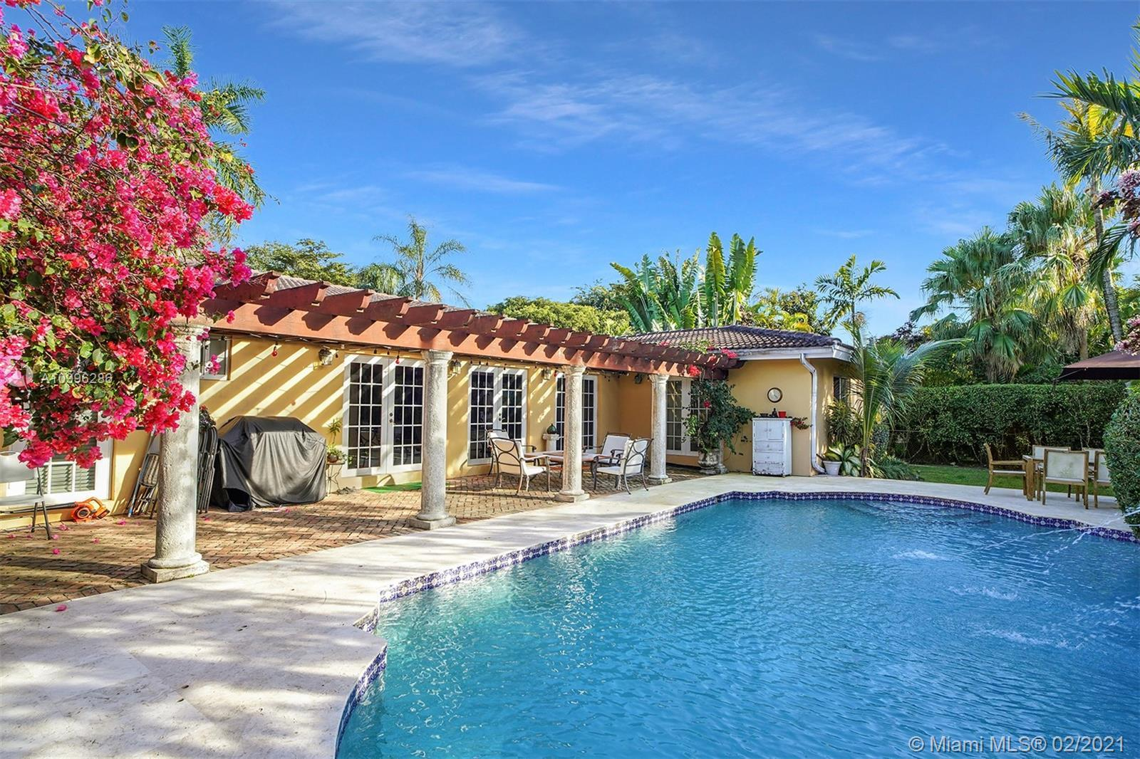 Stunning Coral Gables family home on desirable Alhambra Circle, features 4BR and 4BTHS. Need additio