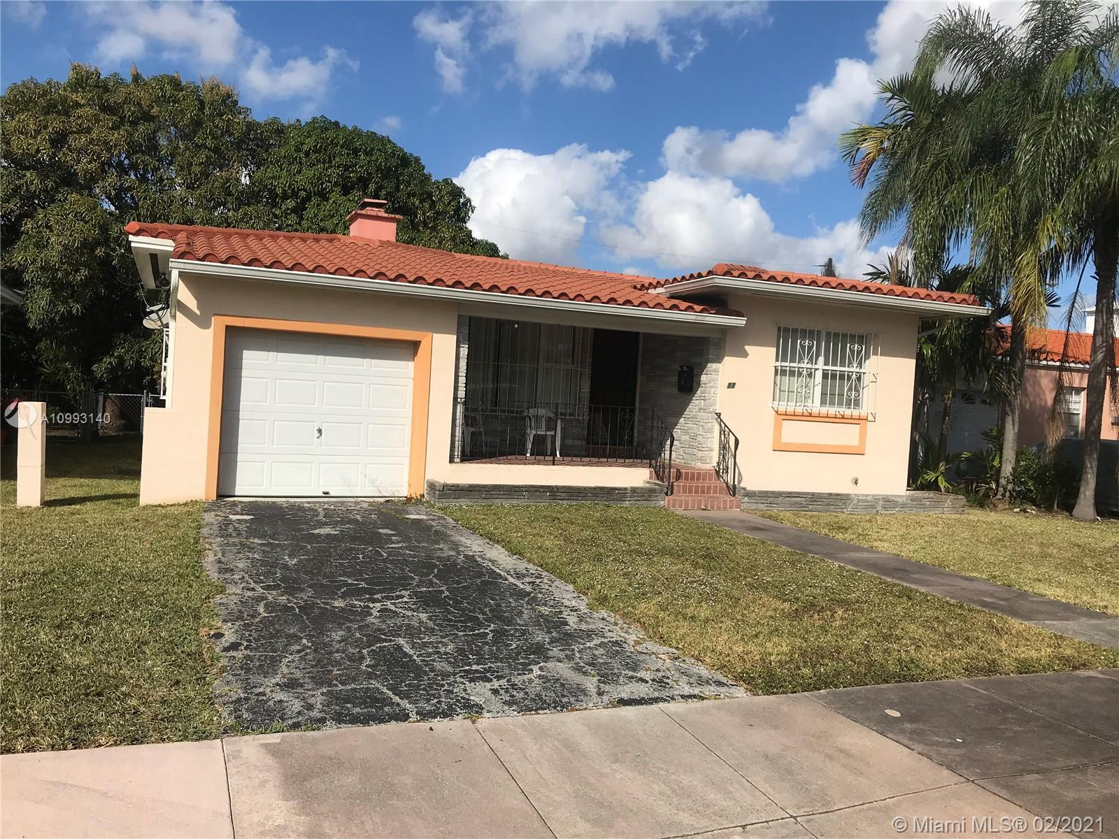 Up for sale is a 2 bedroom 2 bathroom single family home with a garage in the heart of Coral Gables
