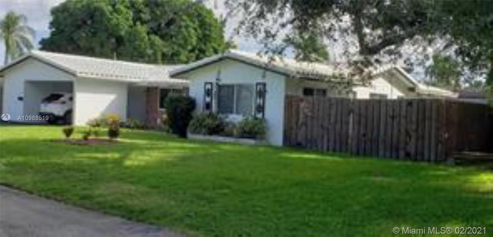 Price Adjustment. Located in the beautiful Hillbrook section of Wilton Manors West. This 1900 SF + h