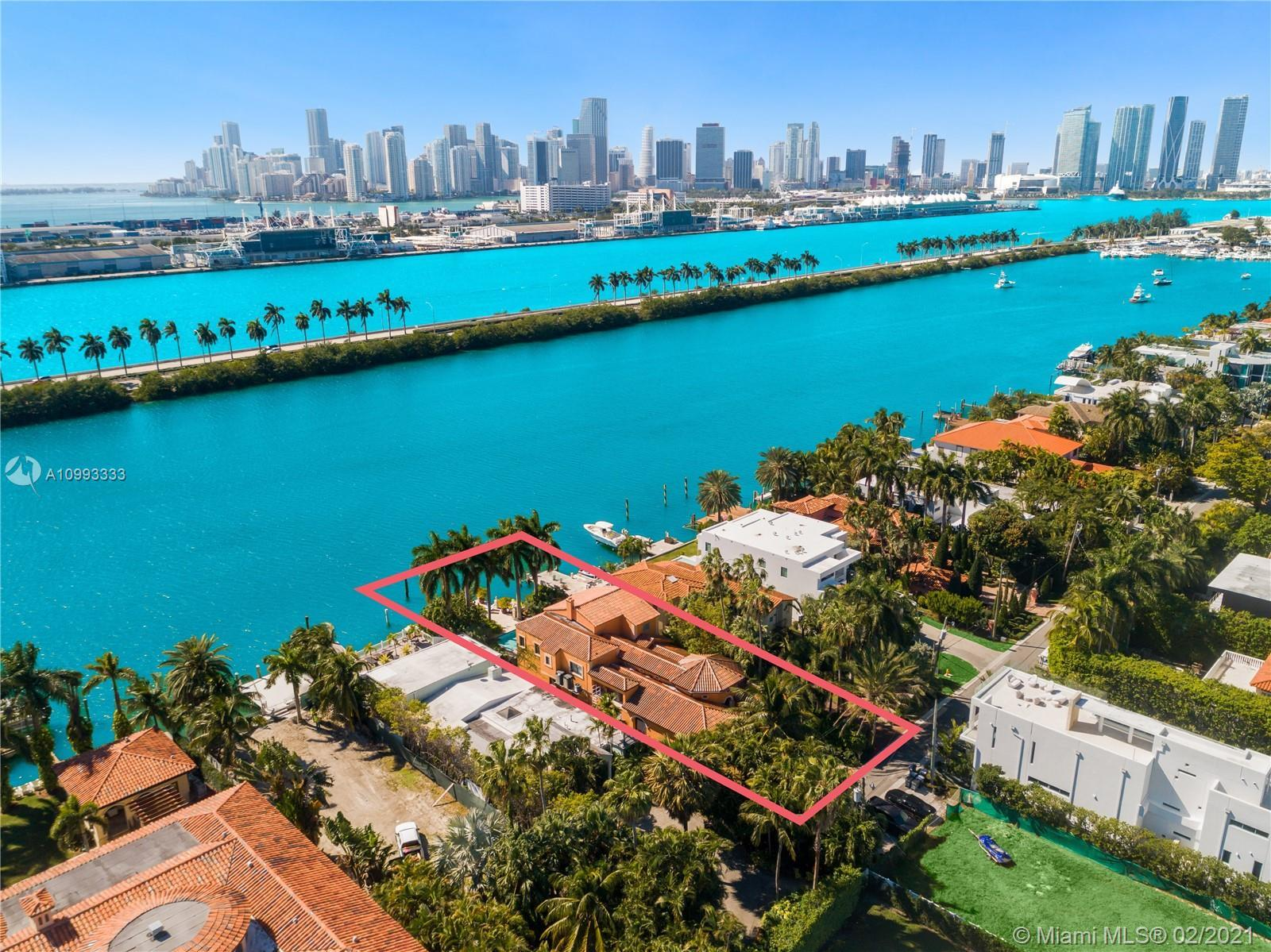 PALM ISLAND UNIQUE WATERFRONT OPPORTUNITY TO WORK ON PLANS FOR A REMODEL OR NEW CONSTRUCTION WITH HE