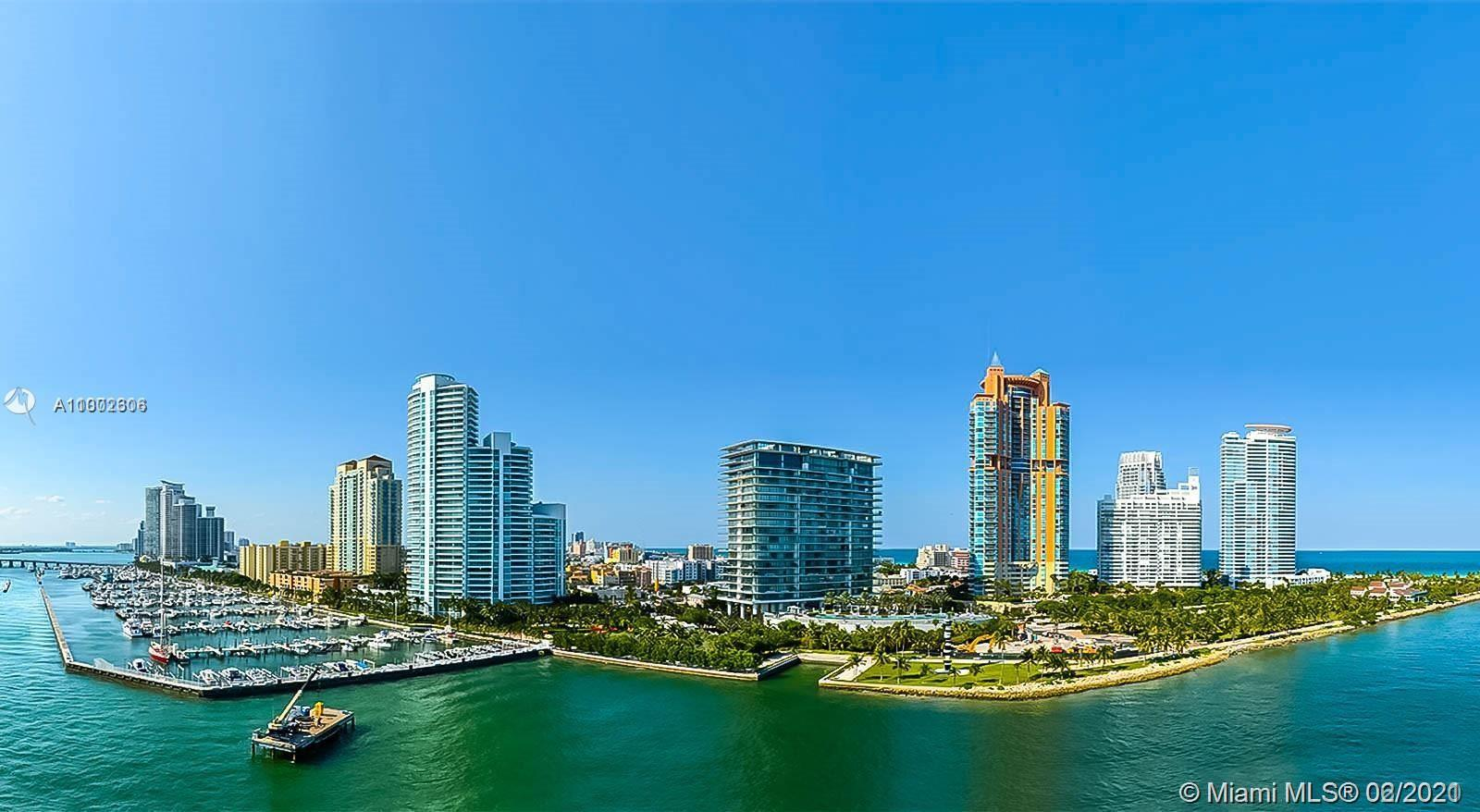 Amazing view from this 3 bedrooms, 2.5 baths. Best line in this building, looking to Fisher Island,