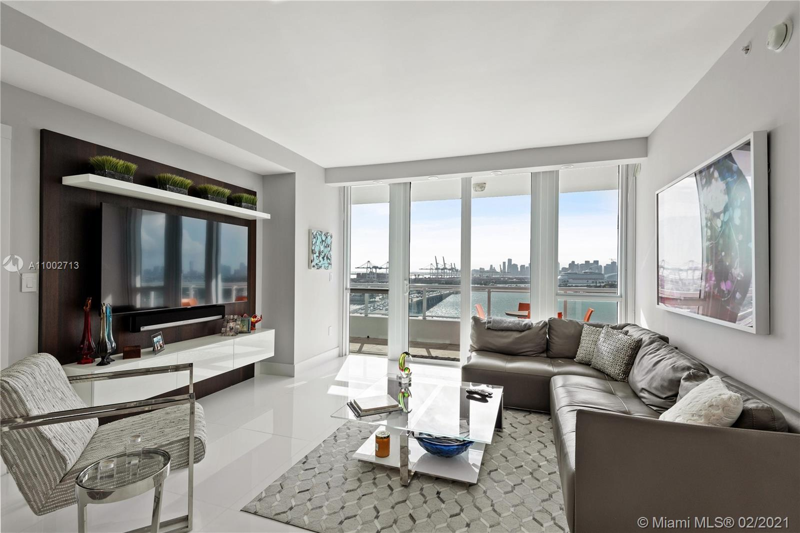 Unsurpassed views of Biscayne Bay, Star Island, & Downtown Miami from this 2 Bedroom + Den/3rd Bedro