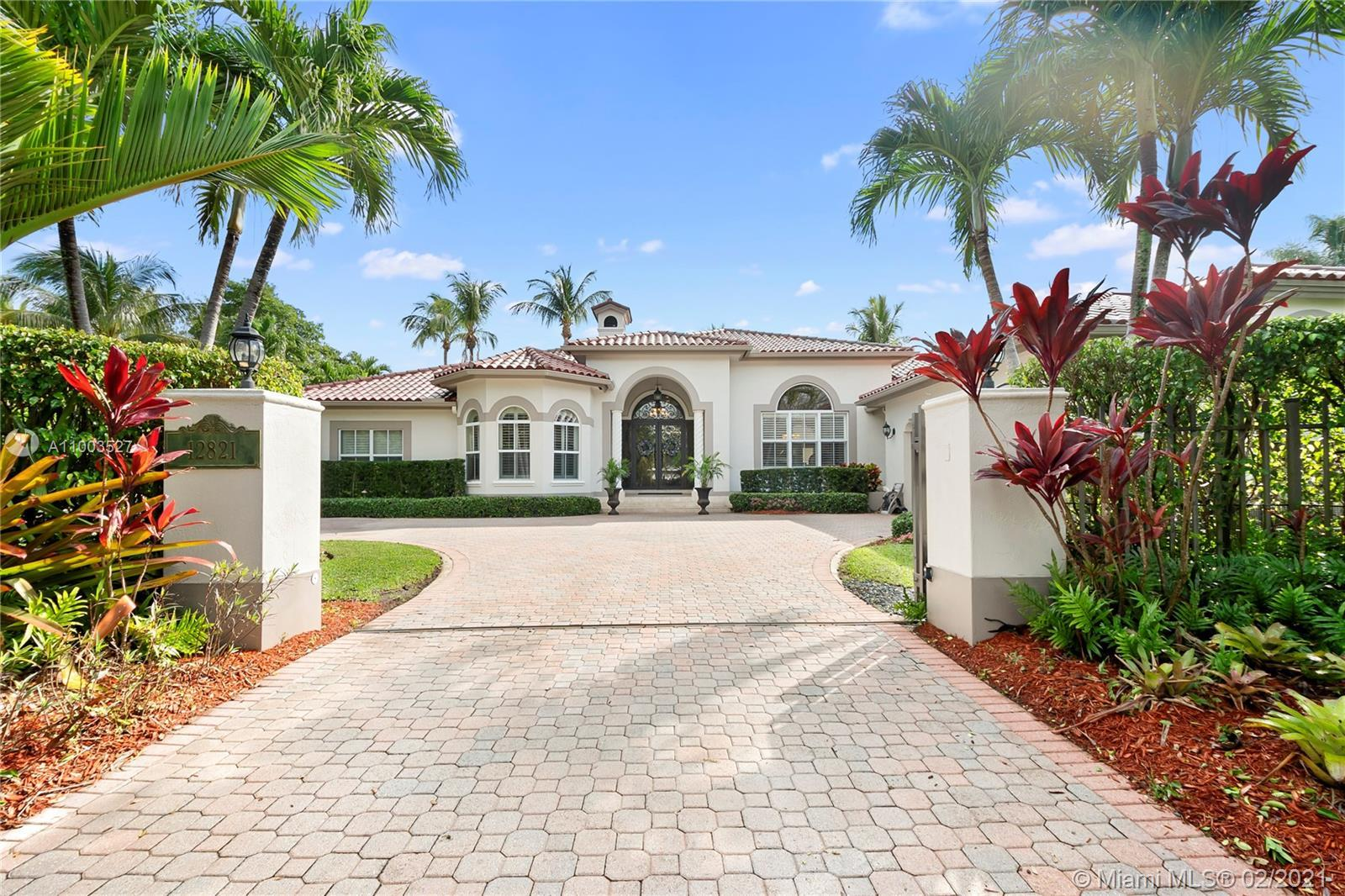 Pinecrest gated estate! This 5 bedroom, 4 bath home has it all---impact windows and doors, high ceil