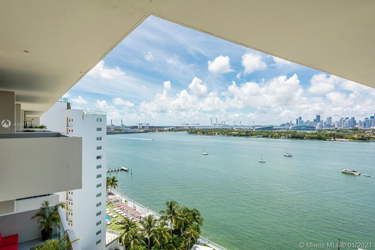 New Price.....Enjoy spectacular Biscayne Bay, Port of Miami and Downtown views from this bright and