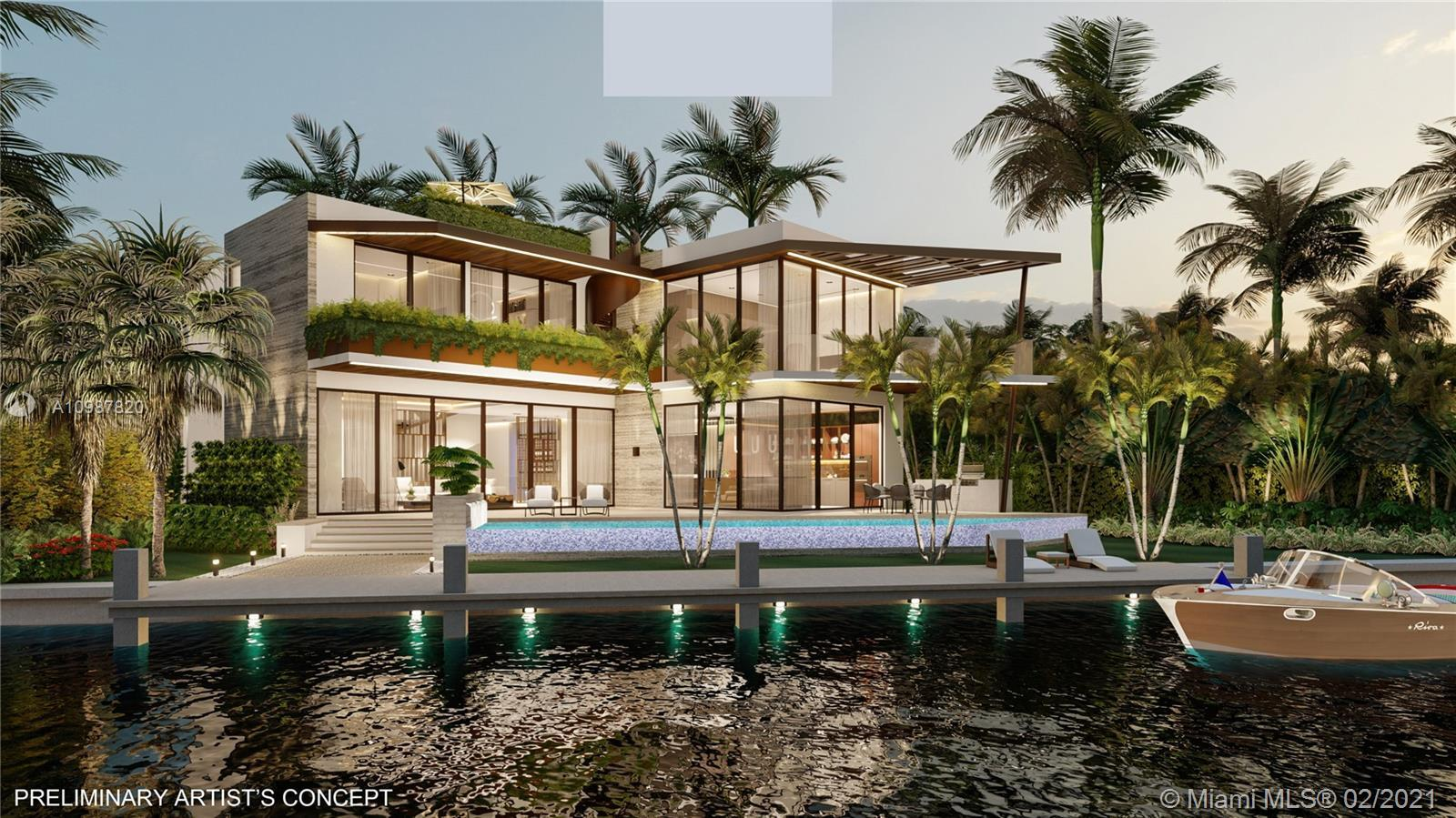 Buildable waterfront lot with 100 feet of waterfront on exclusive North Bay Road - Miami Beach's mos
