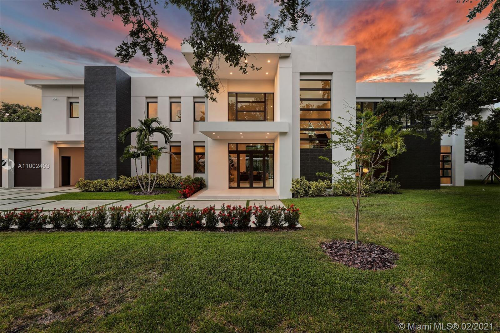 Stunning! This modern masterpiece is crafted with European-style finishes. Featuring an architectura