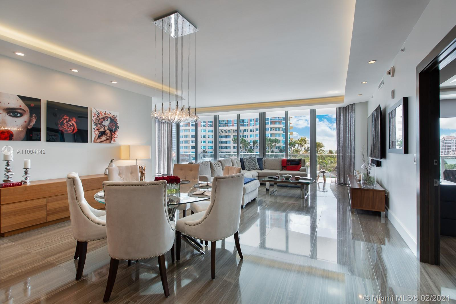 An ultra luxurious corner residence at Marea South Beach, in the heart of the South-of-Fifth (SoFi)
