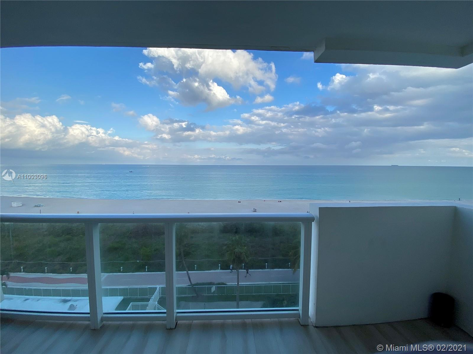 Breathtaking views overlooking the ocean from every room. Remodeled 1 bed+ den 2 bath  unit. Open ki