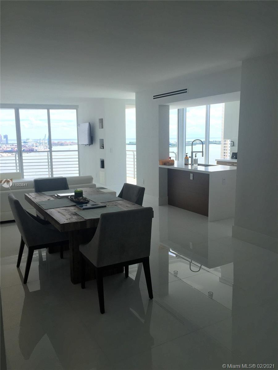 ONE OF A KIND COMPLETELY RENOVATED TURN KEY 34TH FLOOR 3/2 UNIT AT ONE MIAMI.  SOUTHEAST CORNER WI