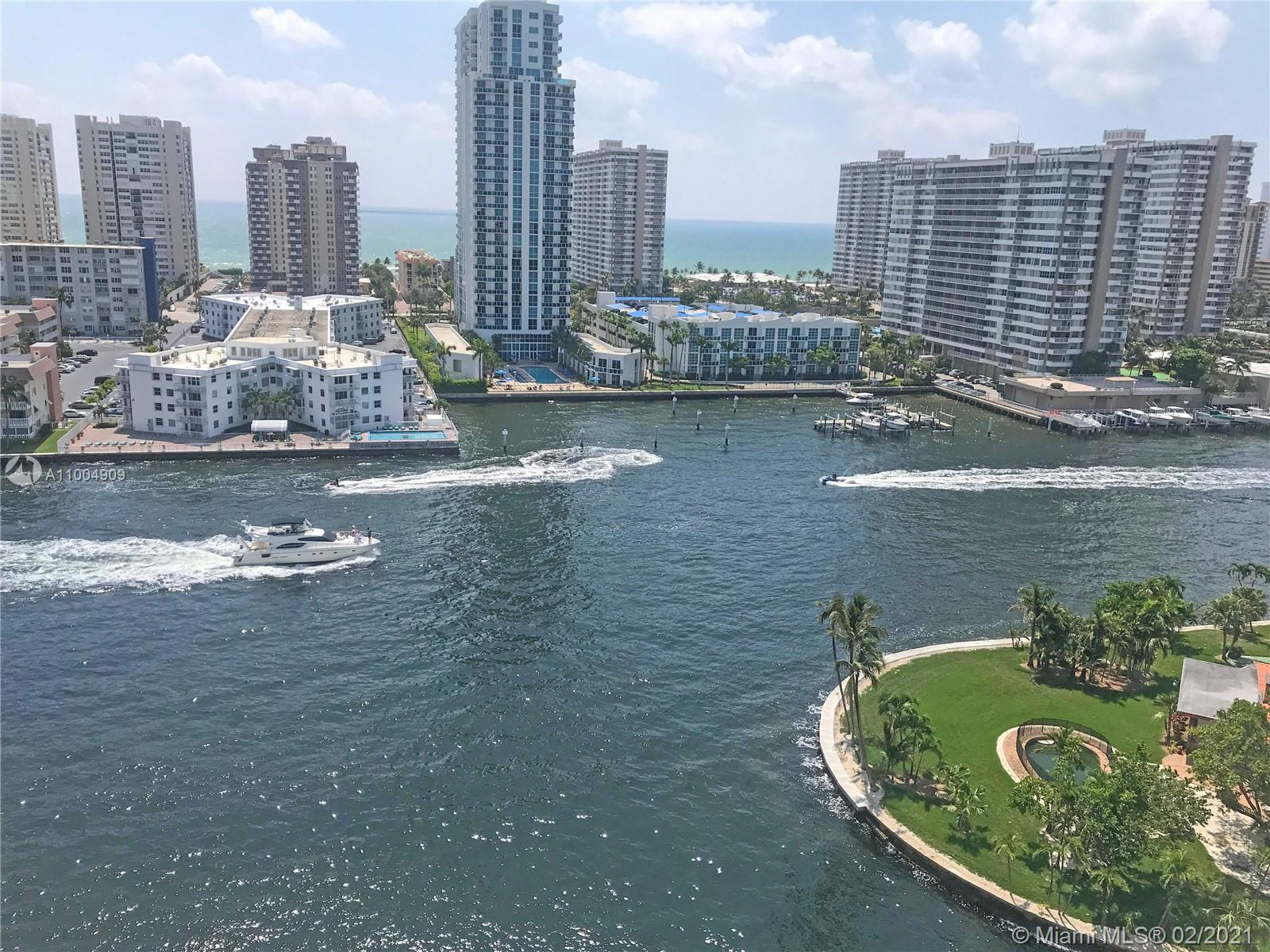 Breathtaking view of Intercoastal and the Atlantic Ocean. Freshly painted. association fees include
