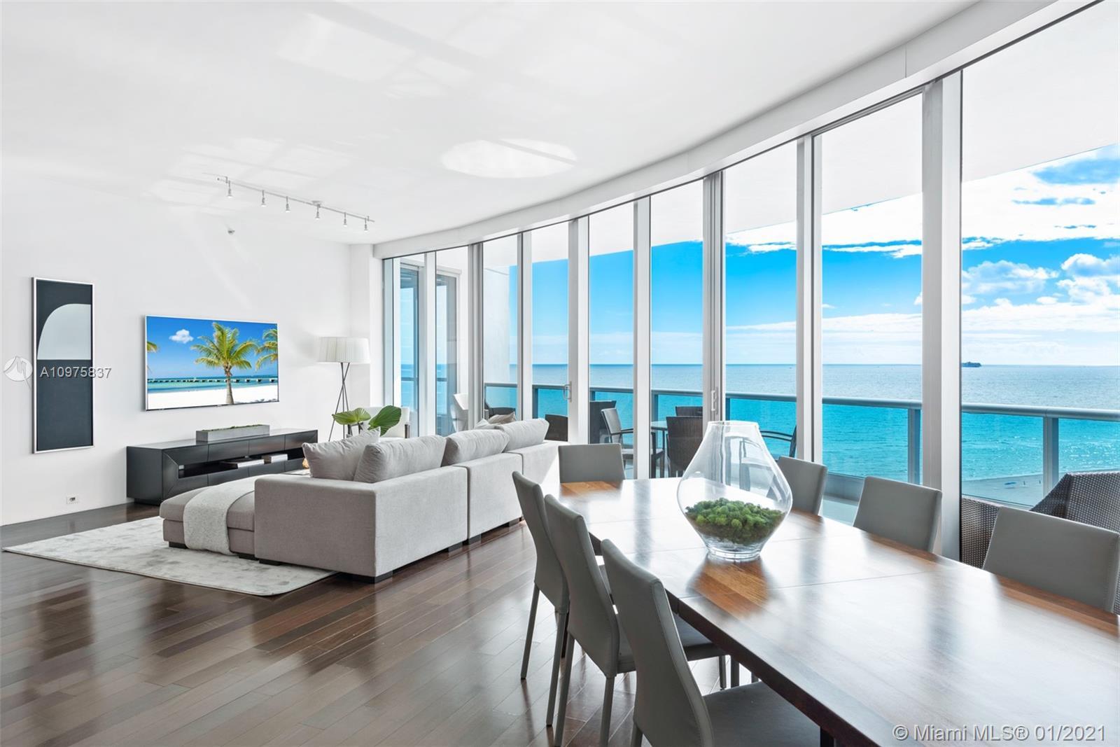The Bath Club is a prestigious residential building located directly along the Atlantic Ocean on Mia