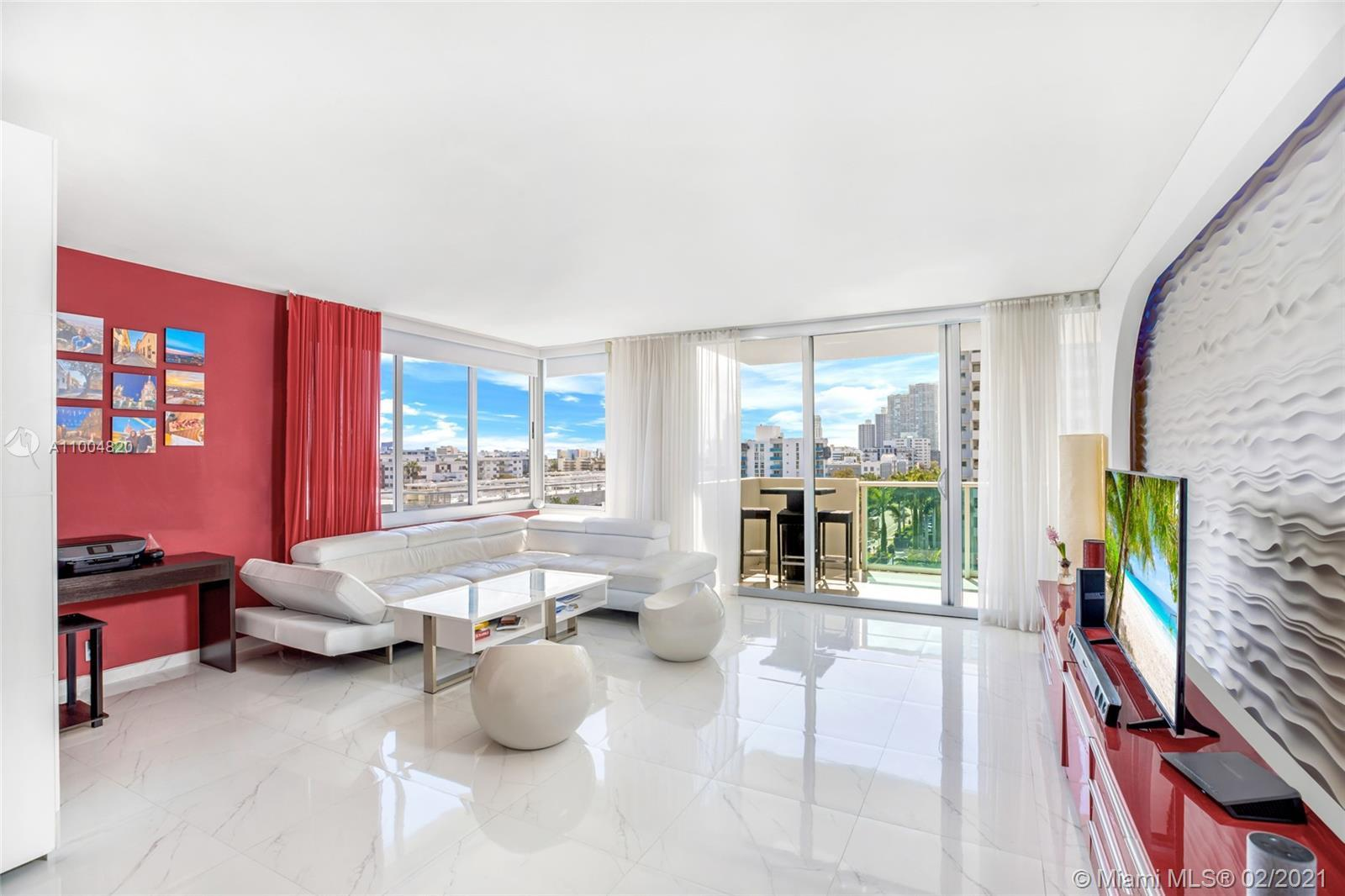 SIMPLY STUNNING..This Bright Corner Unit with Spacious Design and almost 1000 sqft of space. One of