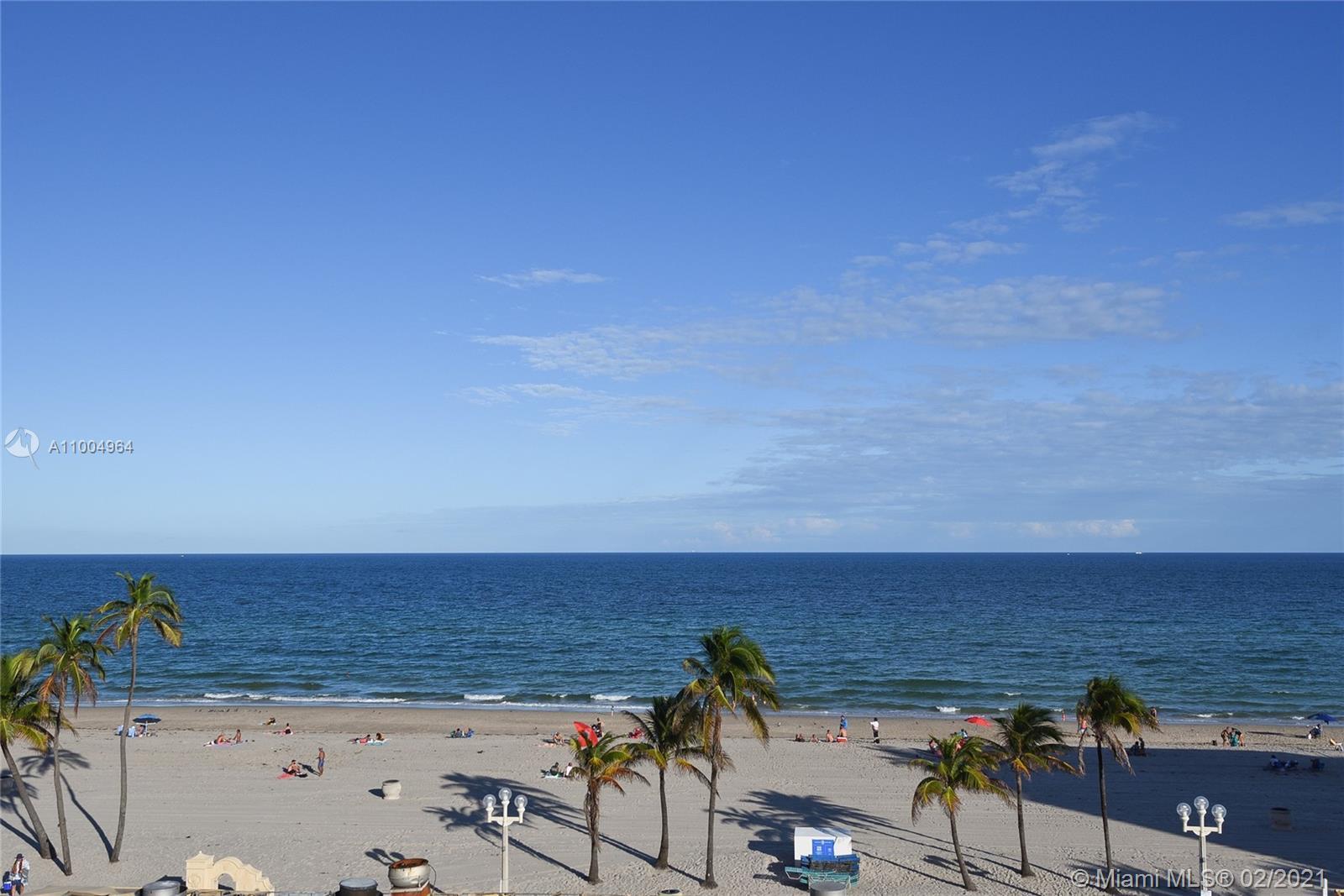 Direct Ocean 2 br 2 bath! 180 degree Ocean Views>East-North-South. Large terrace facing the Ocean, e