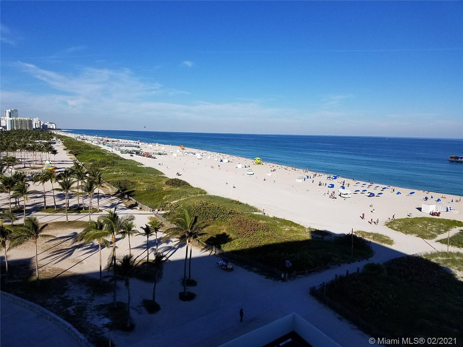 Glorious views of the Ocean , Ocean Drive and Lumnus park from the most sought Northern side of the