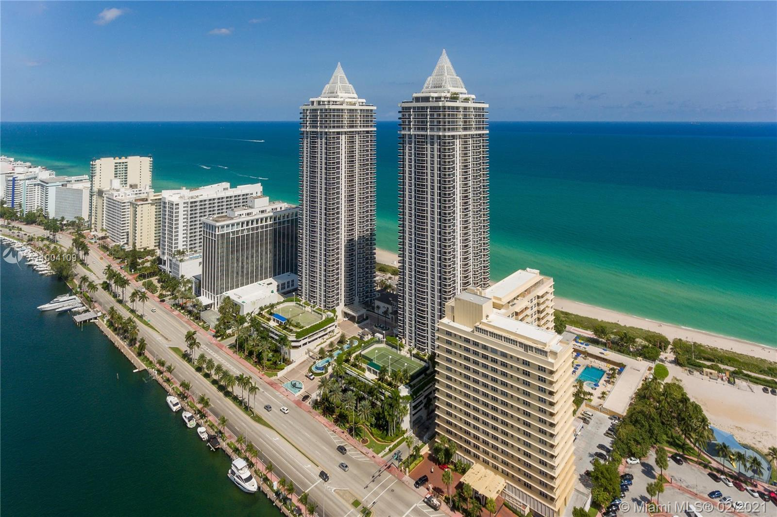 Enjoy stunning unobstructed ocean and bay views from this 34th floor apartment. This beautiful 2 bed