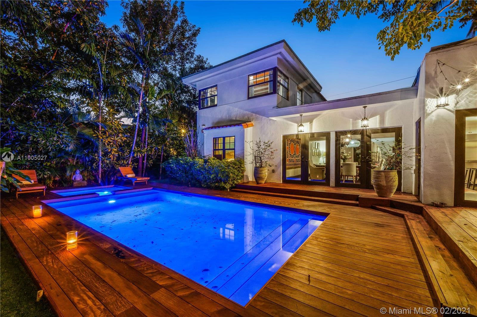 Located in the heart of Miami Beach. This dreamy Mediterranean 2 story home is in the most sought-af