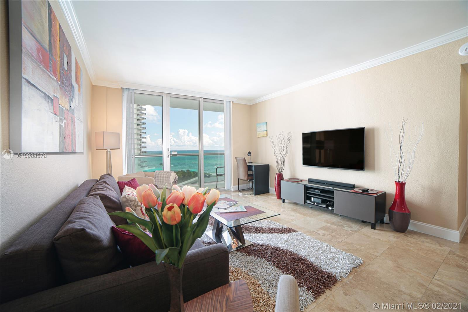 BEACHFRONT LIVING AT THE TIDES! GORGEOUS DIRECT OCEAN VIEW FROM THIS SPACIOUS 1 BEDROOM UNIT WITH LA