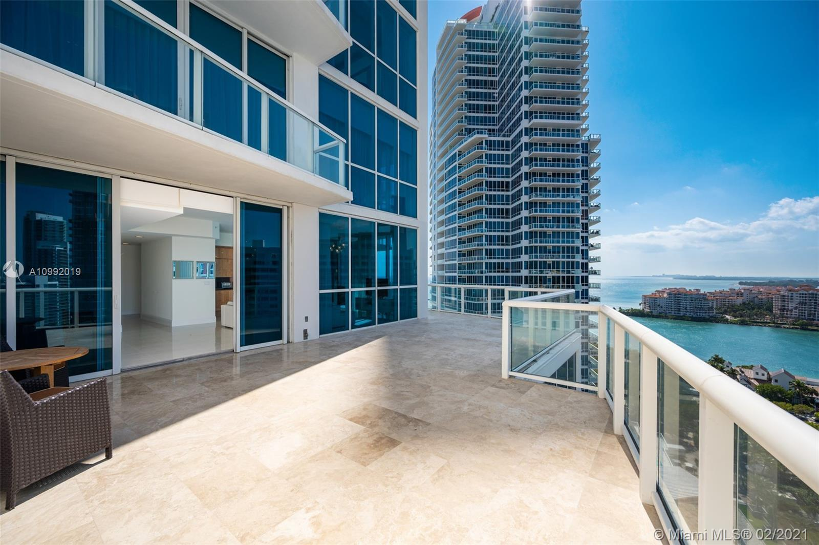 Rare Southwest facing corner unit with extended terrace spanning over 1,000SF. This 2 Bed/2.5 Bath r