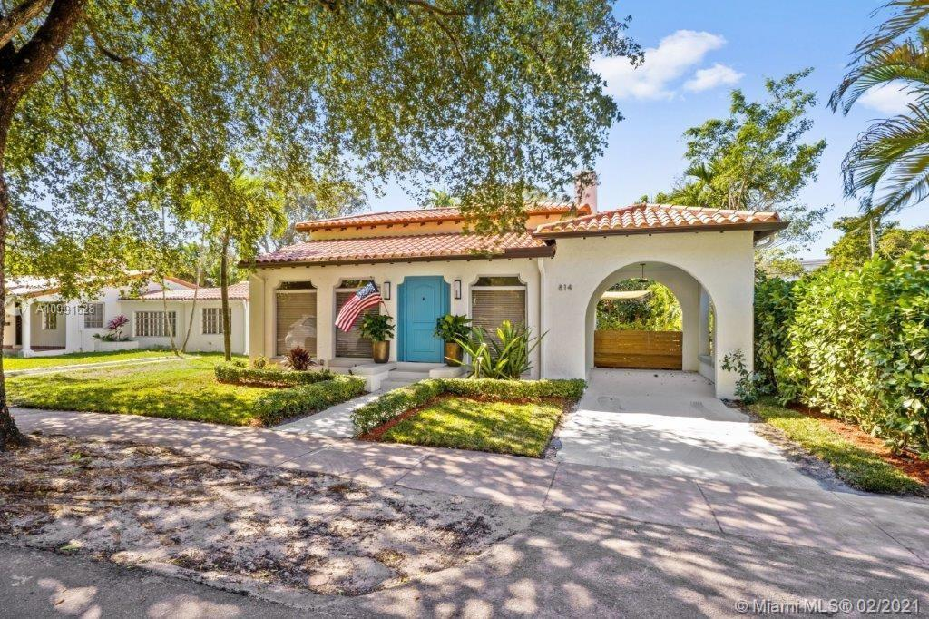 COME SEE THIS 1925 Old Spanish home located on a quaint and quiet street in Coral Gables. The layout
