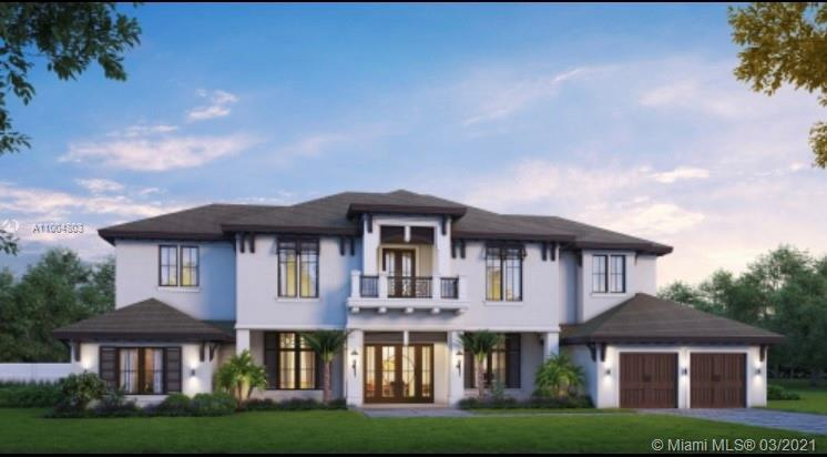 Pinecrest New Construction, Coastal Contemporary Estate Home, private cul-de-sac community*.  Expect