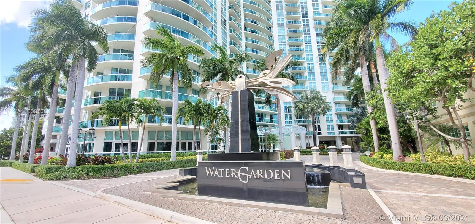 "Watergarden Condominium. Rare ""03 Line"" . Unique opportunity!!! Unobstructed eye level Southeast vie"