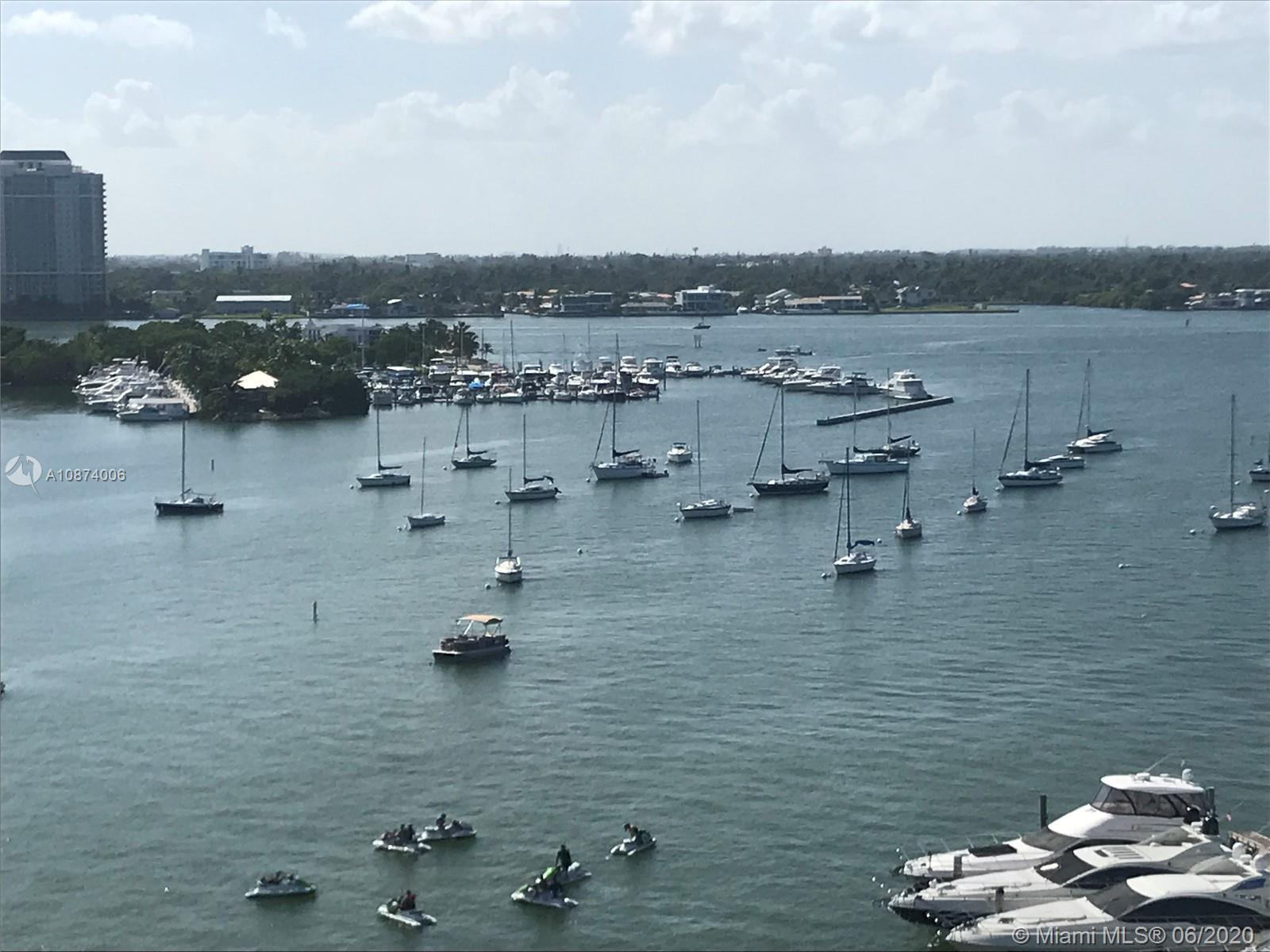 Beautiful fully renovated studio in North Bay Village. Waterfront building with unobstructed view of