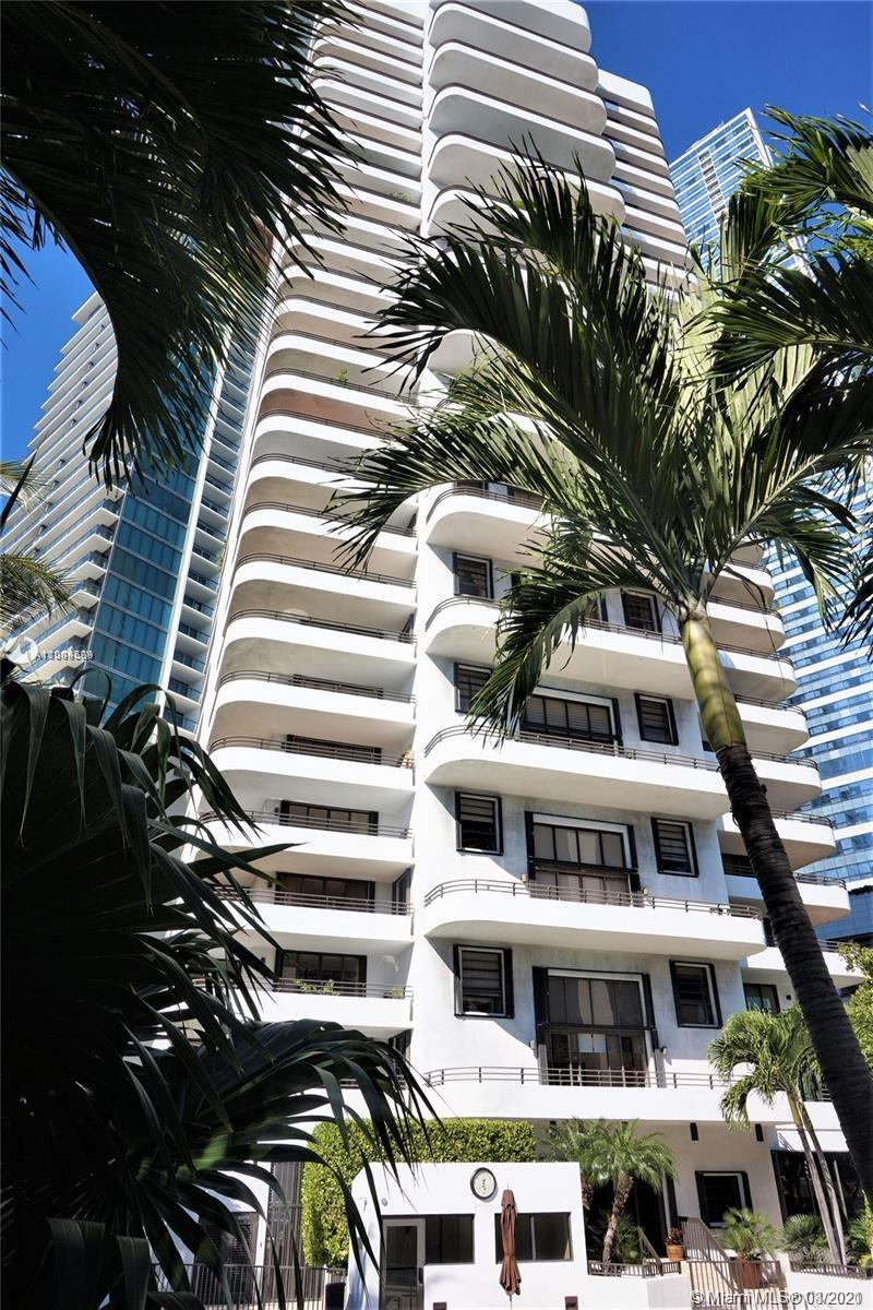 Iconic gated building in Brickell.  Double doors lead to foyer and spacious, airy corner 2/2 plus De