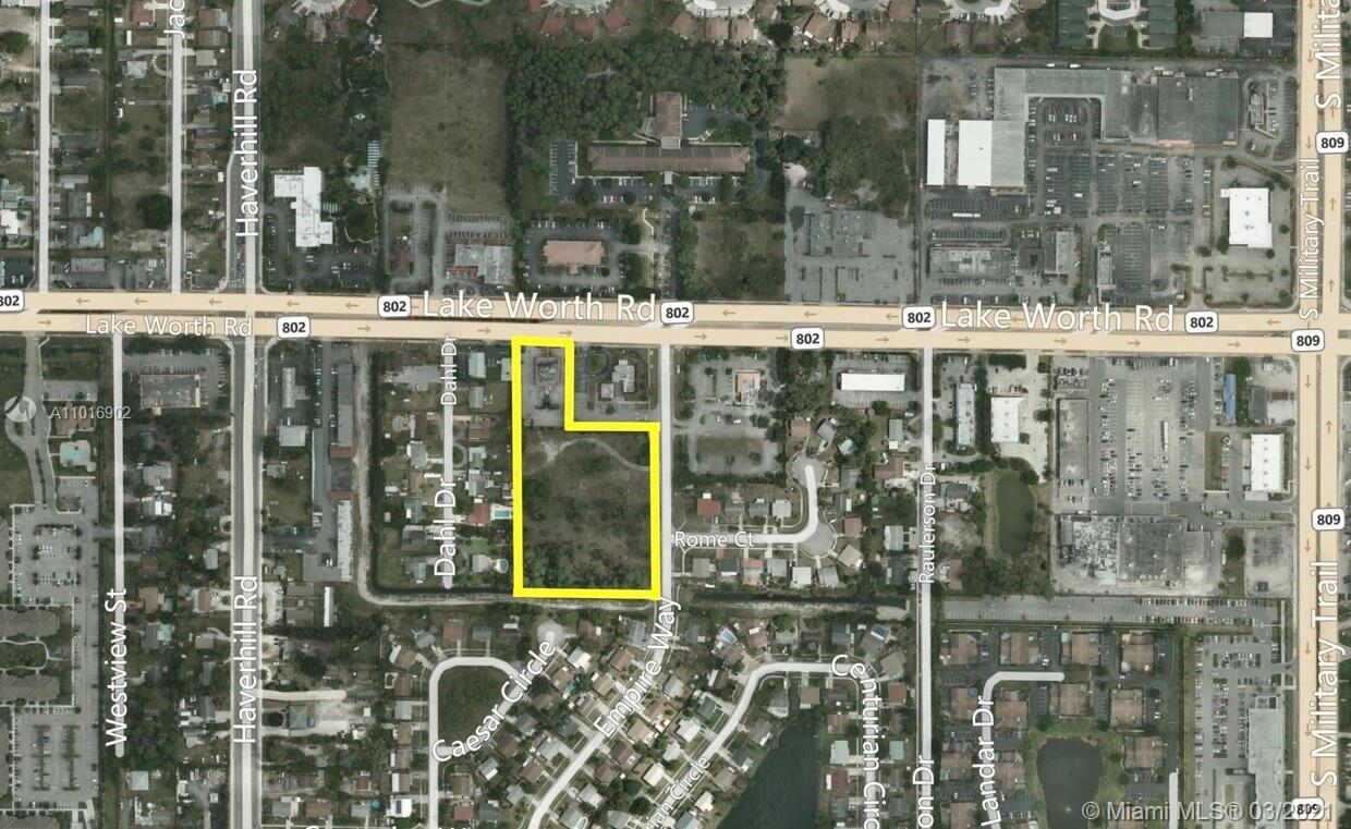 RESF Commercial is pleased to present a (3) Folio Assemblage totaling 3.62 Acres with Commercial zon