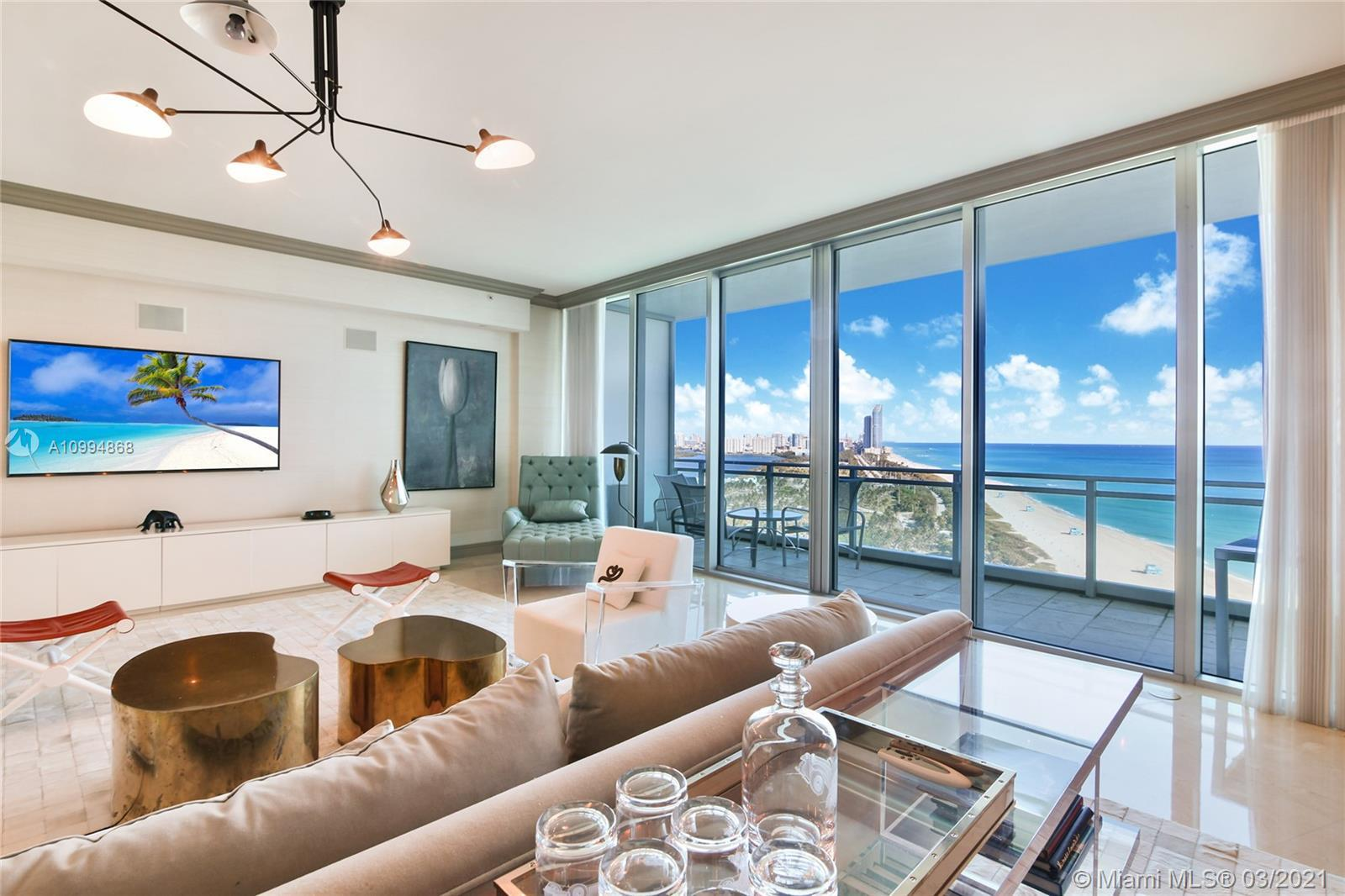 NEW ON THE MARKET ! BREATHTAKING PANORAMIC DIRECT OCEAN, INTRACOASTAL & MIAMI SKYLINE VIEWS!  3 BEDR