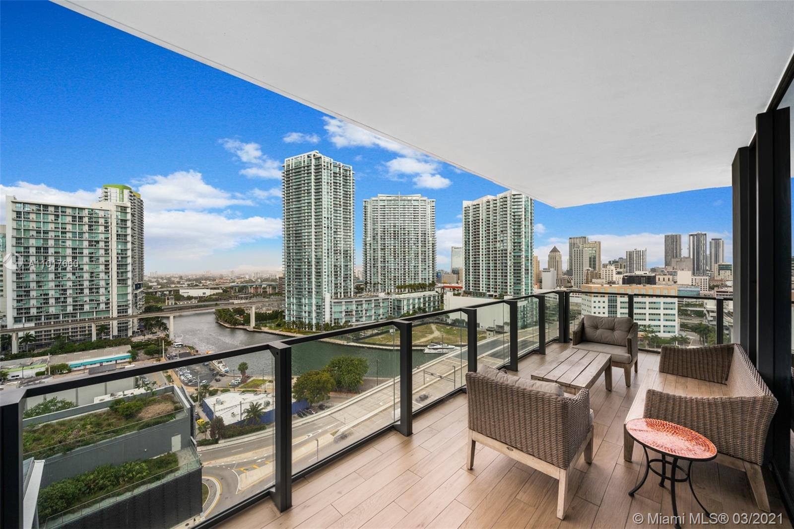 Spectacular 2 Bed 2.5 Bath Corner Unit featuring 1,265 SF of Interior Living Space w/ an expansive w