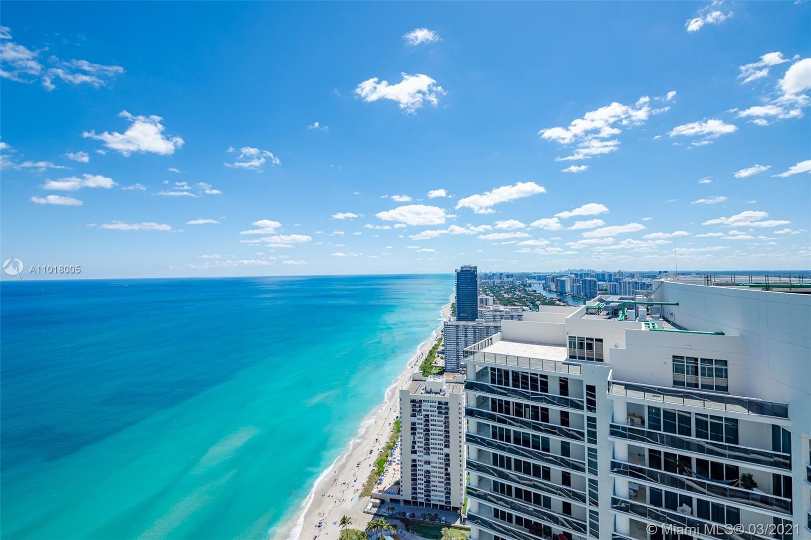 Enjoy direct ocean views from this 800+ Sq.Ft. 1/1 located on the 48th floor of Beach Club Two, the