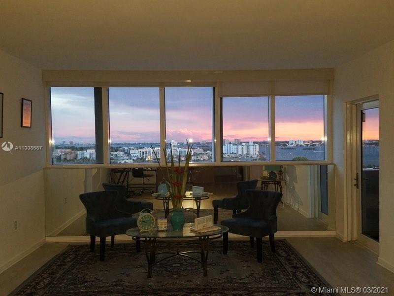 Great value in Bal Harbour, 1 bed/1.5 bath, balcony w/spectacular views of the intracoastal.  Buildi