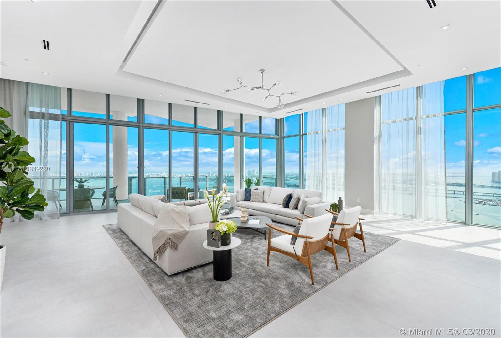 Enter this one of a kind lower penthouse and be prepared to be awestruck by views through 15 ft floo