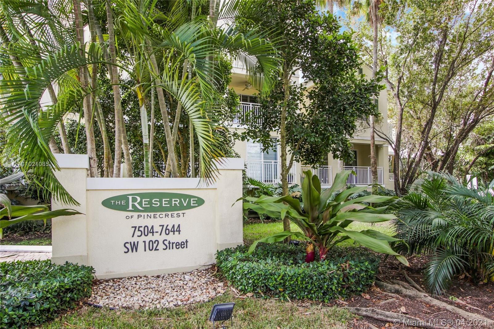 Largest 2,226 sq. ft. unit at The Reserve of Pinecrest, Key West style gated community consisting of