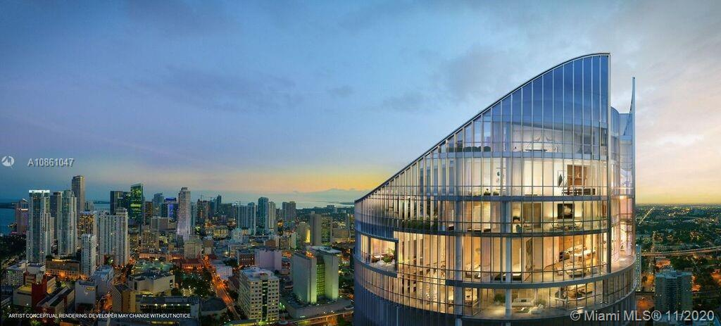 PARAMOUNT Miami Worldcenter, the building with the most amenities in the world.  This 4 BD + Den /