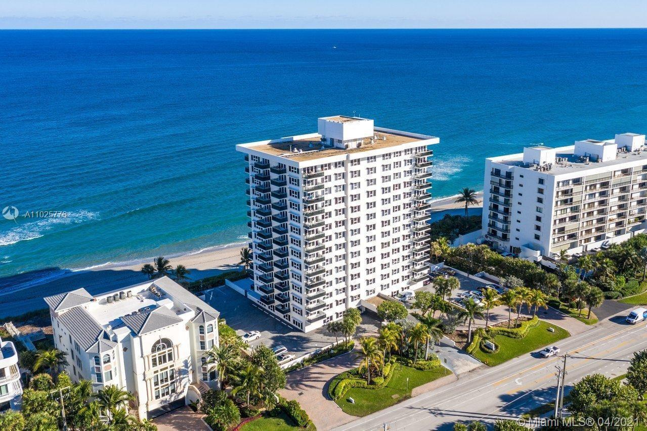 UNOBSTRUCTED BREATHTAKING DIRECT OCEAN VIEWS FROM EVERY ROOM IN THIS 2 BEDROOM 2 BATH CORNER CONDO.