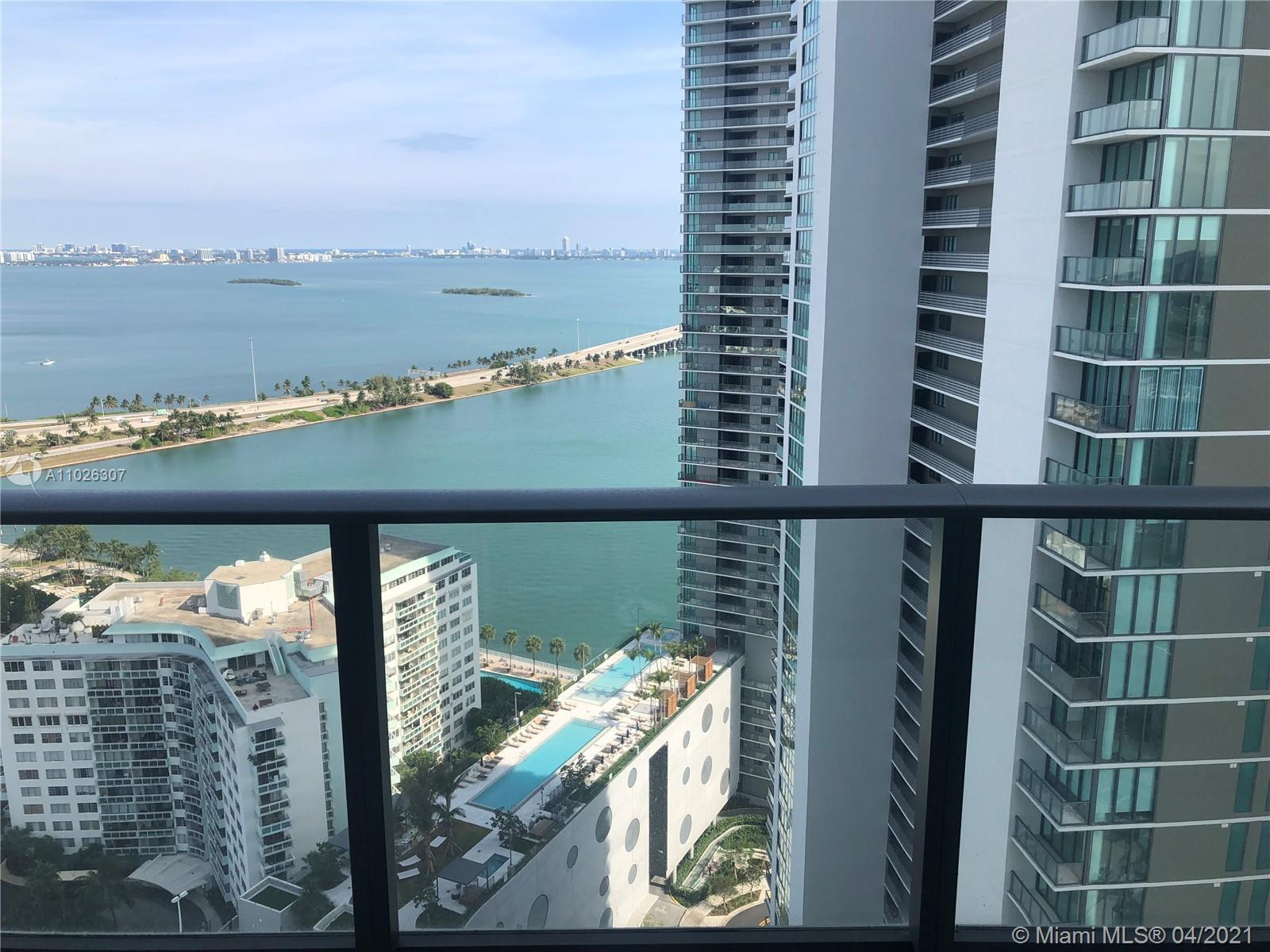 BEAUTIFUL VIEW FROM THIS FURNISHED 1BED/1BATH AND GUEST BATH AT THE BRAND NEW LUXURY PARAISO BAYVIEW