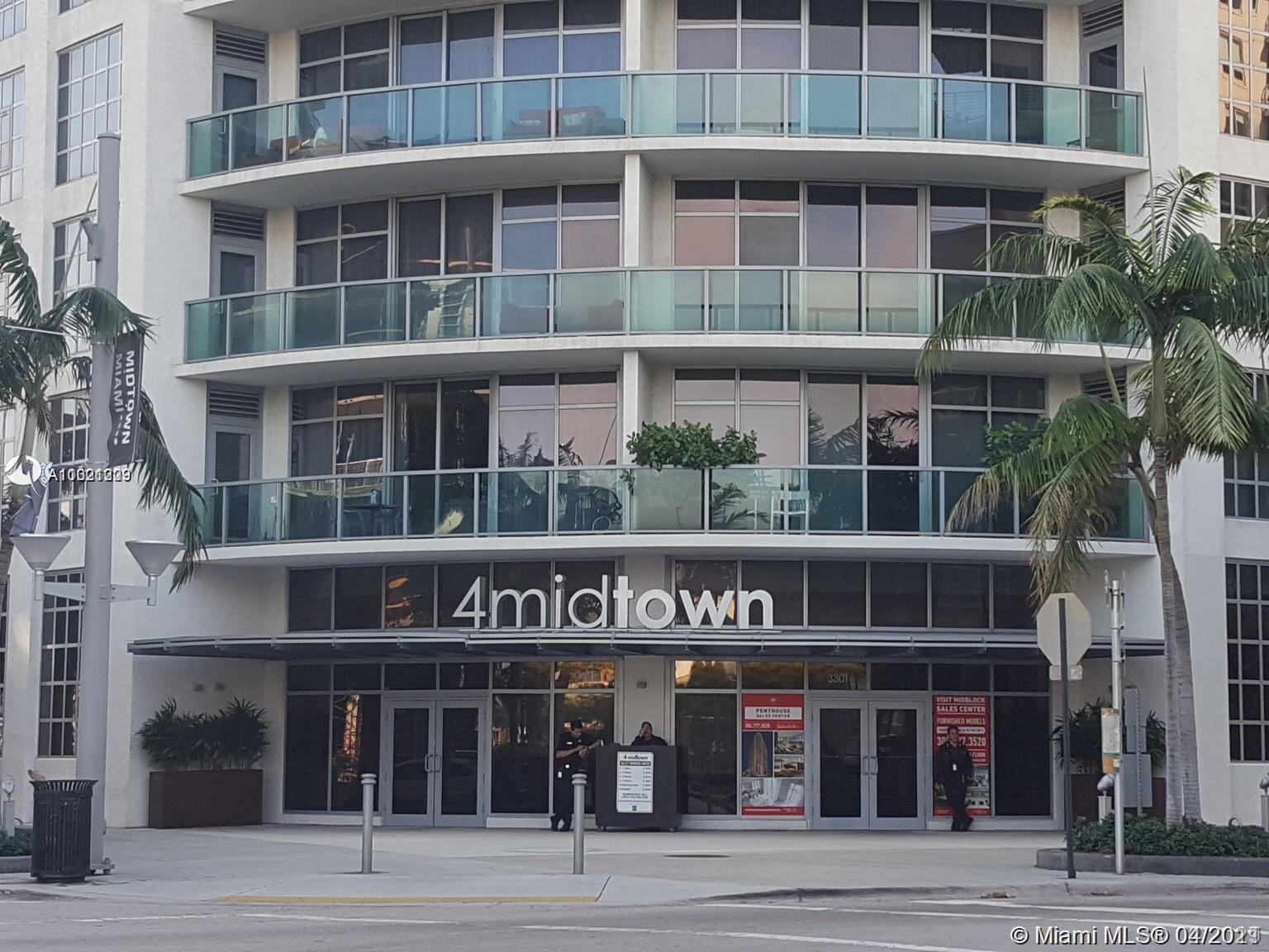 SITUATED BETWEEN WYNWOOD AND BISCAYNE BAY, THIS UNIT IS LOCATED IN FOUR MIDTOWN, BEAUTIFUL , SPACIOU