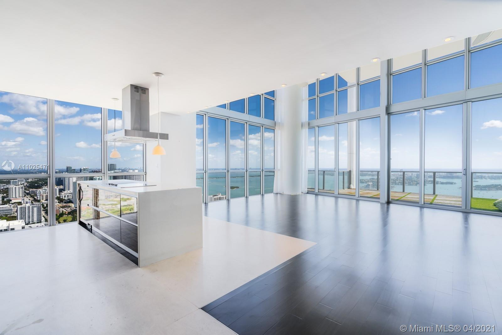 Soaring above Downtown Miami from the 57th floor at the Marquis, enjoy endless views of Biscayne Bay