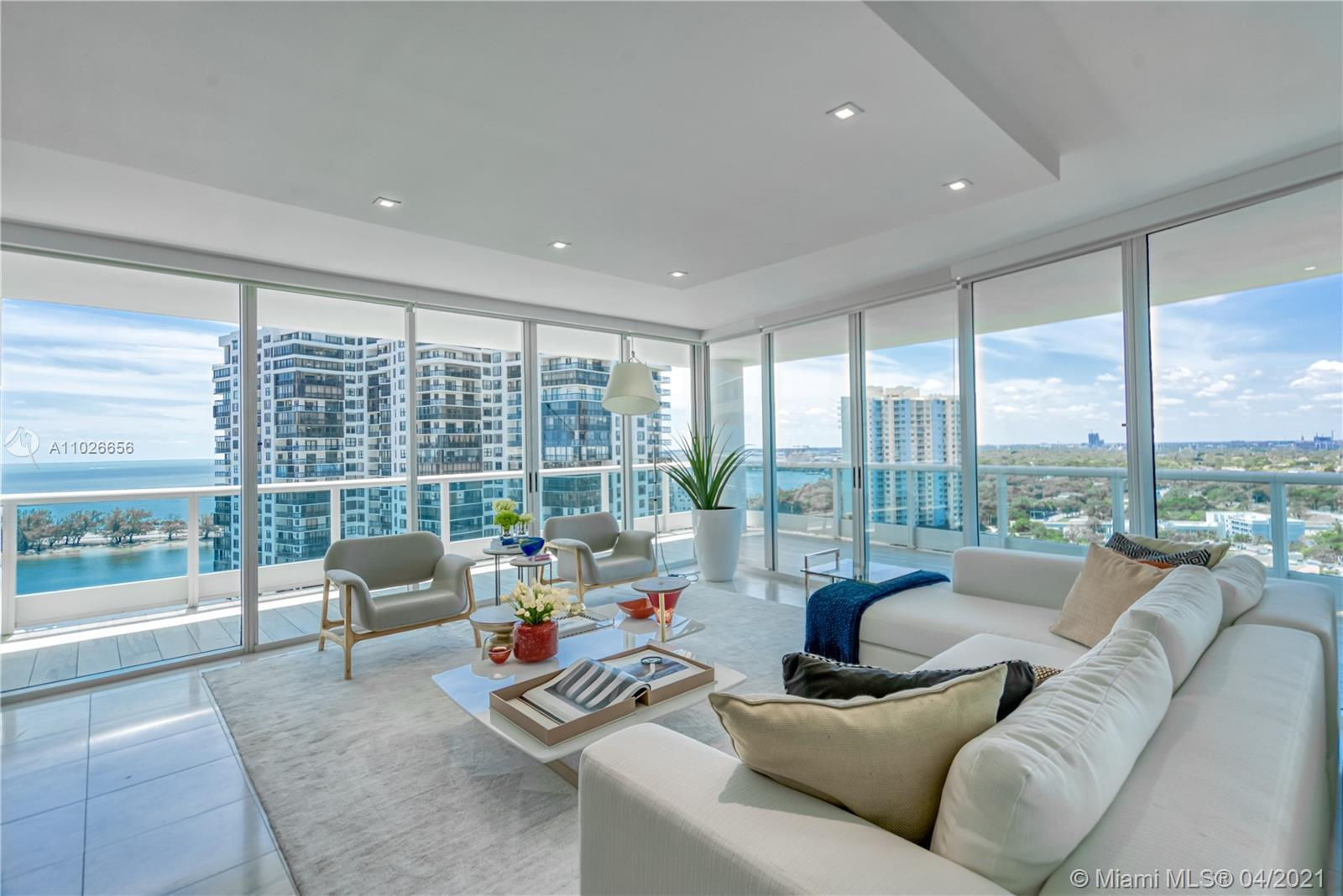 This stunning 3 Be/3Ba unit at prestigious Bristol Tower in Brickell offers 2,310 SF and will be sol