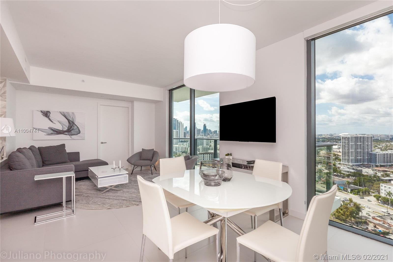 Spectacular designer decorated 2bed/2bath unit. High-end furniture, built-in closets and electric sh