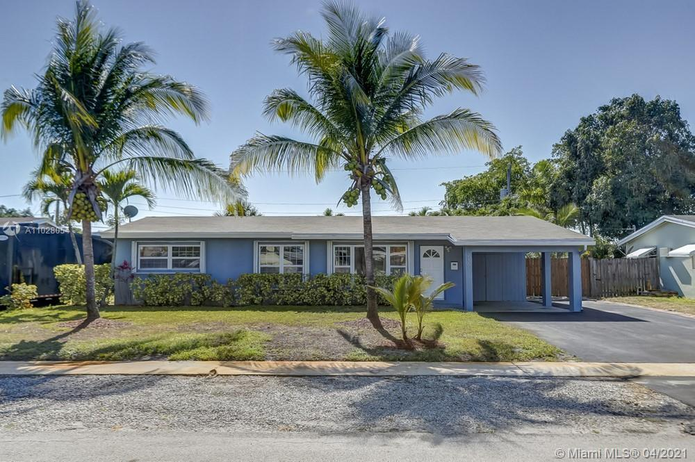 Lovely 3 bedroom, 2 bathroom home on a large lot with a pool in Fort Lauderdale! This home could be