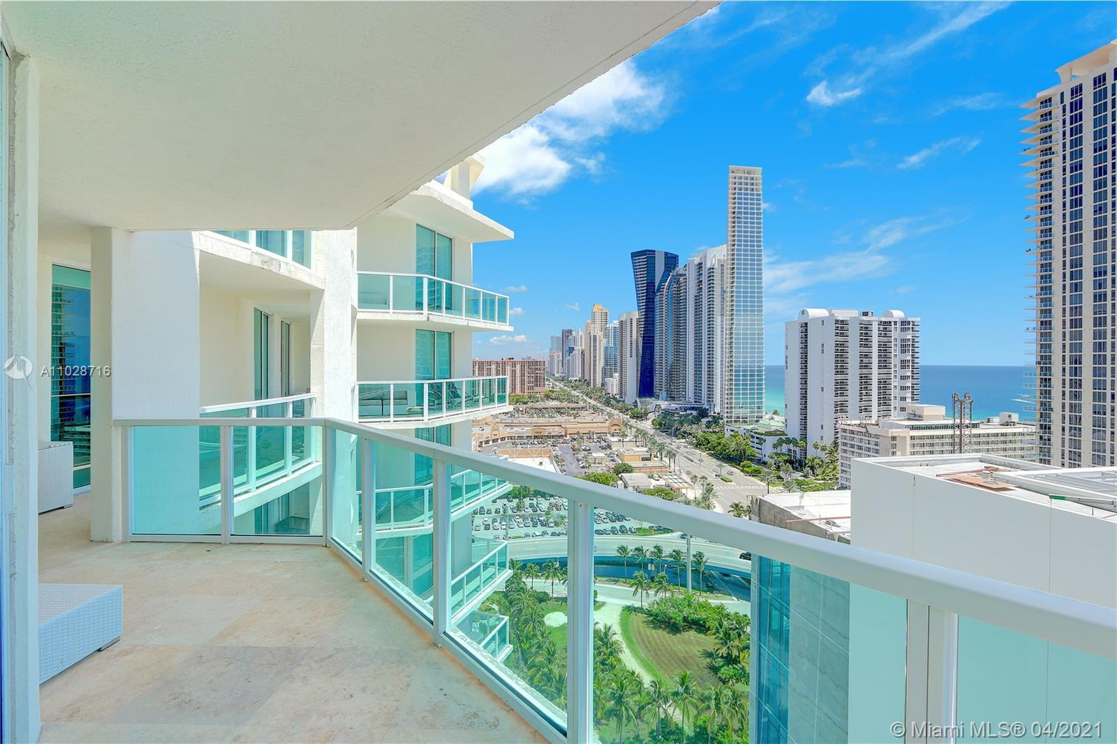 Spectacular contemporary 4BR 4.5BA upper corner Penthouse unit with an additional 1,100 Sq Ft 1BR 1B