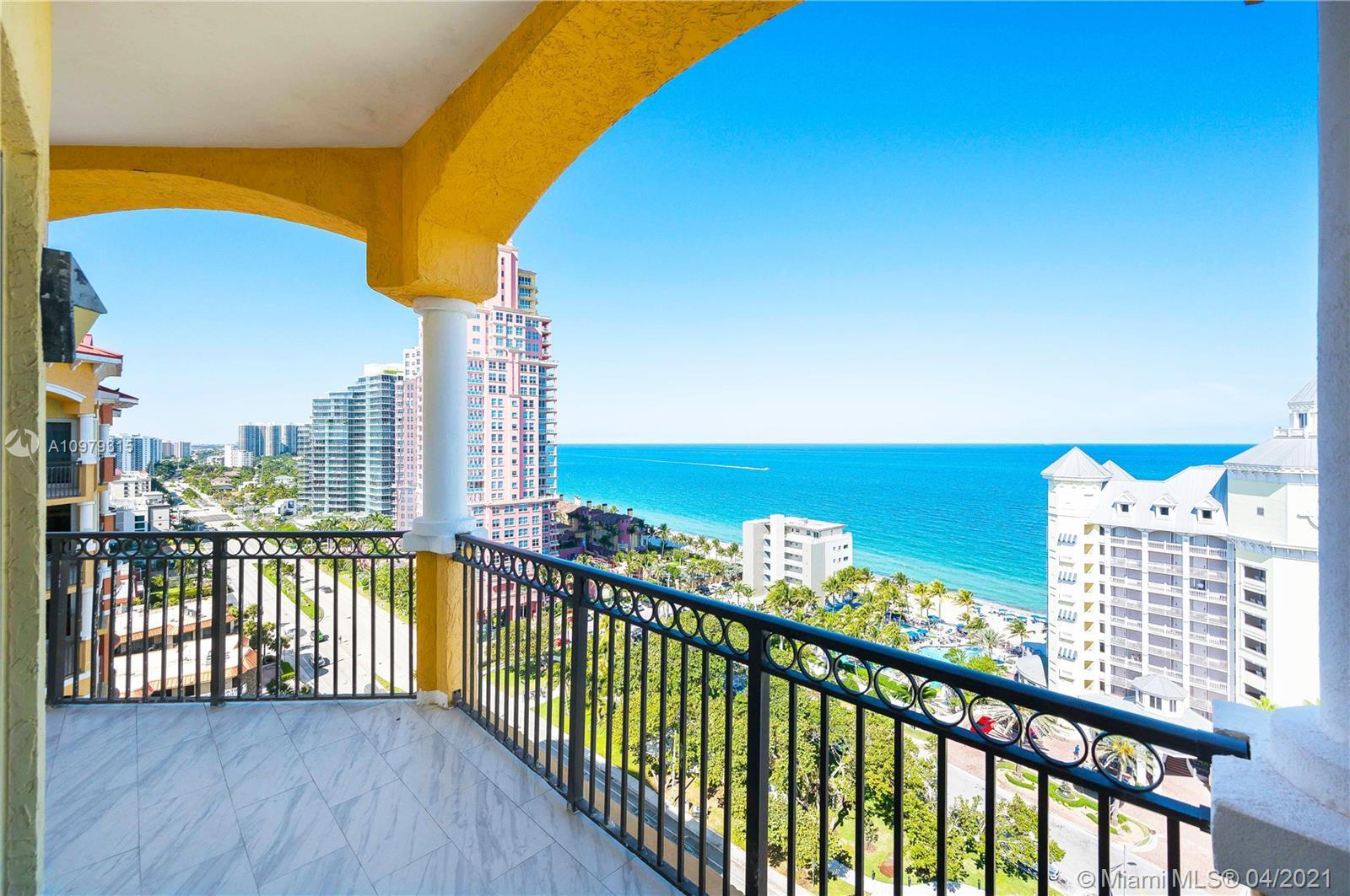 Top-floor unit at Vue with the most breathtaking ocean views. This charming and rare 3 bedrooms and