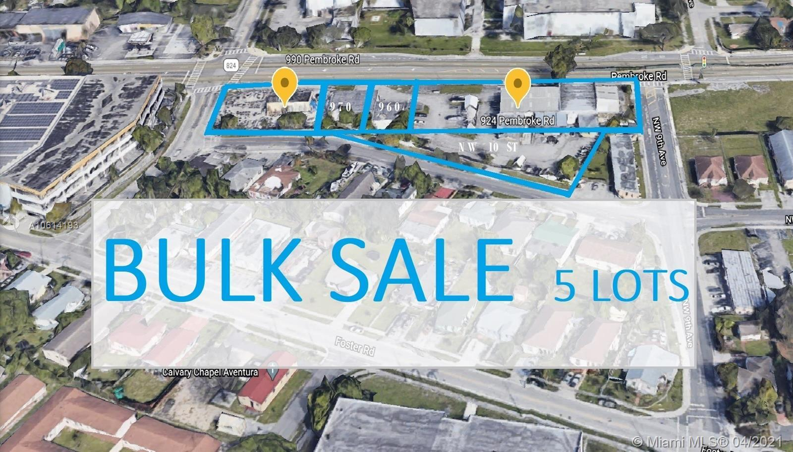GREAT OPPORTUNITY! Redeveloper fit. There are approximately 2 acres total. A few buildings exist, 19