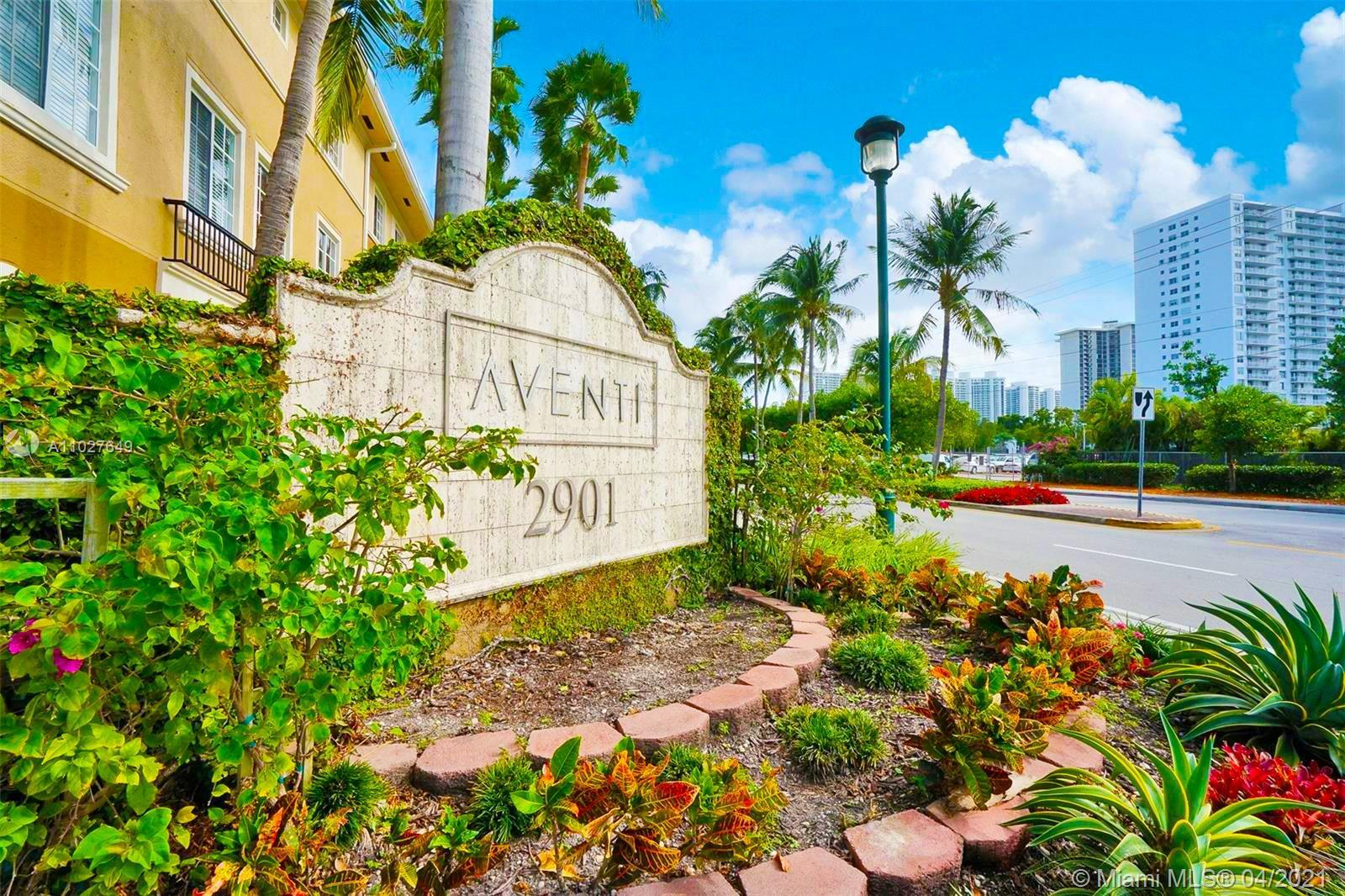 Best priced 3Br/2Ba town house at centrally located Aventi at Aventura. This is a private community