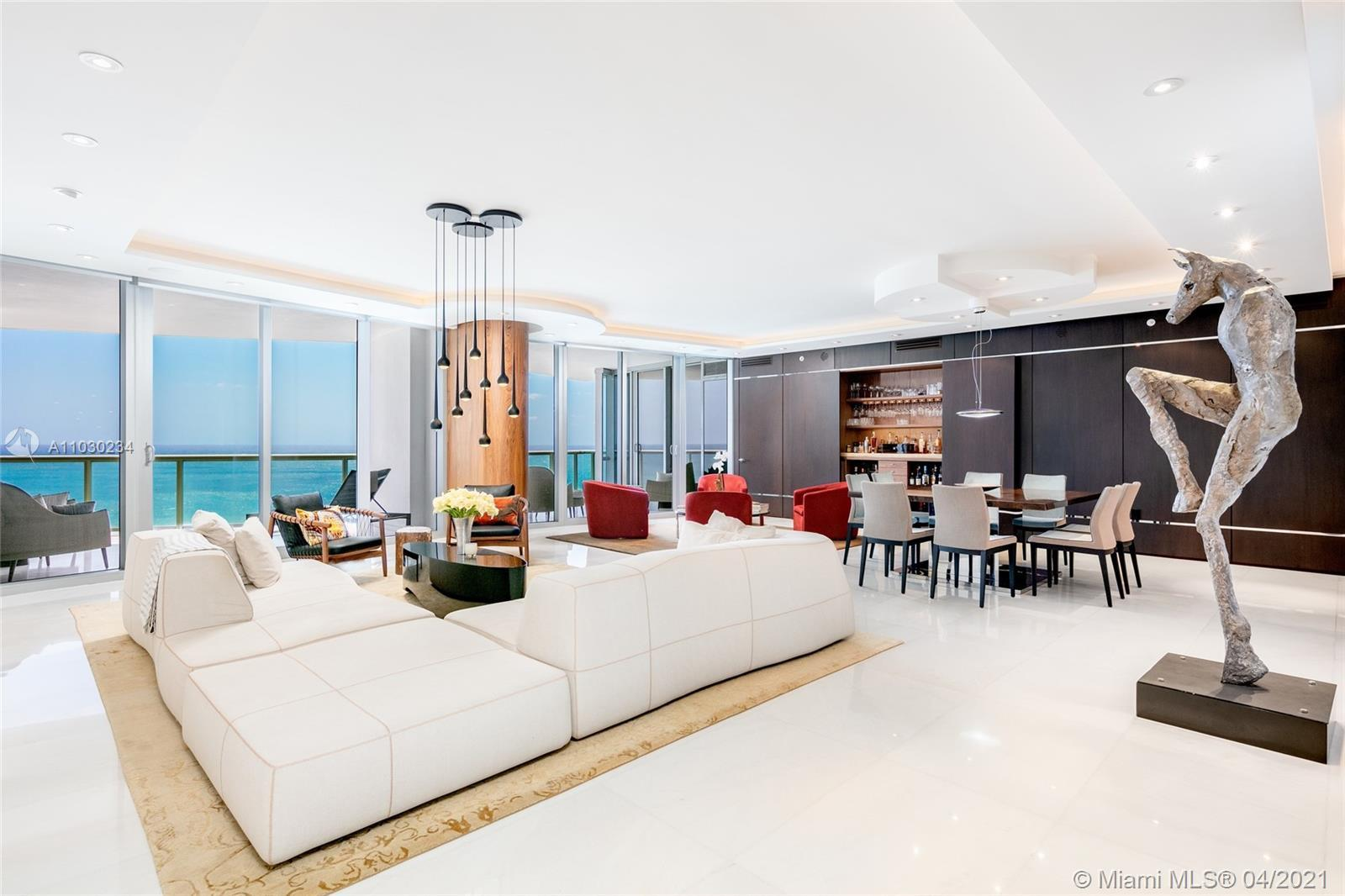 Welcome to this Masterfully Renovated DOUBLE Flow Through Residence at Jade Ocean. Enjoy 4,360 Inter